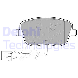 Brake Pad Set, disc brake DELPHI LP1754