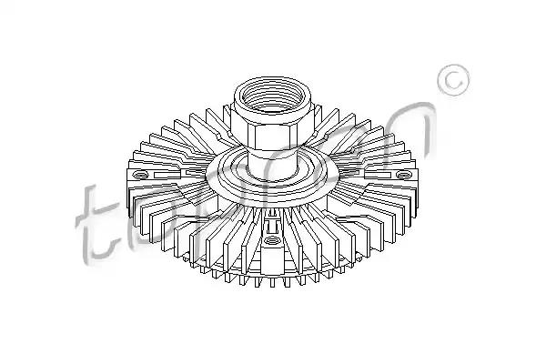 Clutch, radiator fan TOPRAN 302007586 main